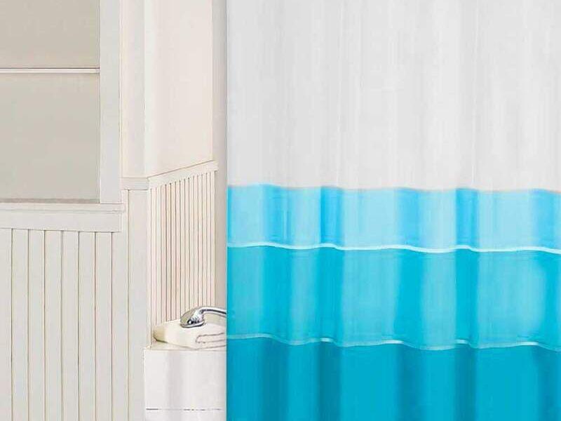 Cortina Baño Vicuña Azul