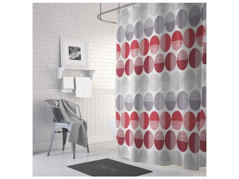 Cortina confeccionada de baño