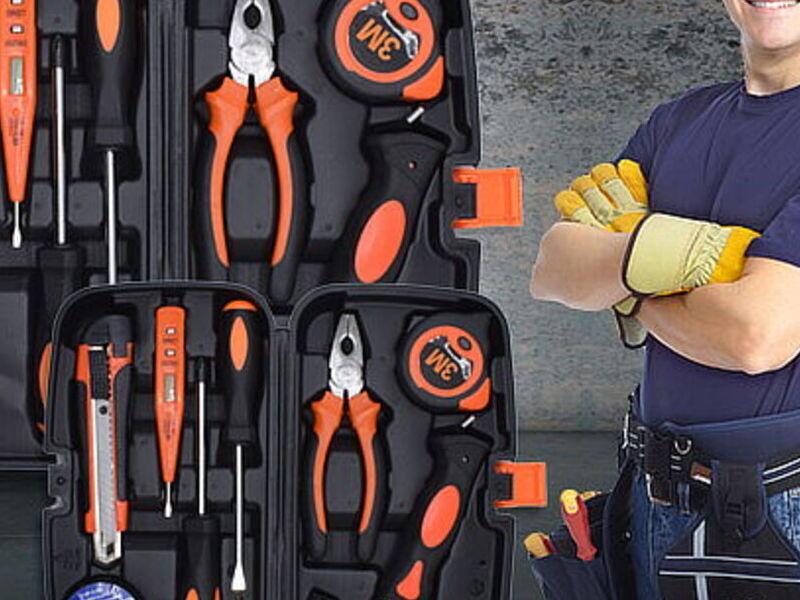 Caja de herramientas de 8 piezas
