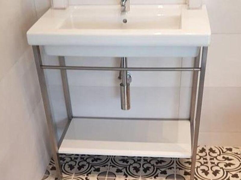 Soporte lavamanos acero inoxidable