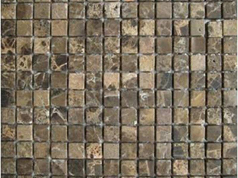 Mosaico Piedra 30.5x30.5 Cafe Natural