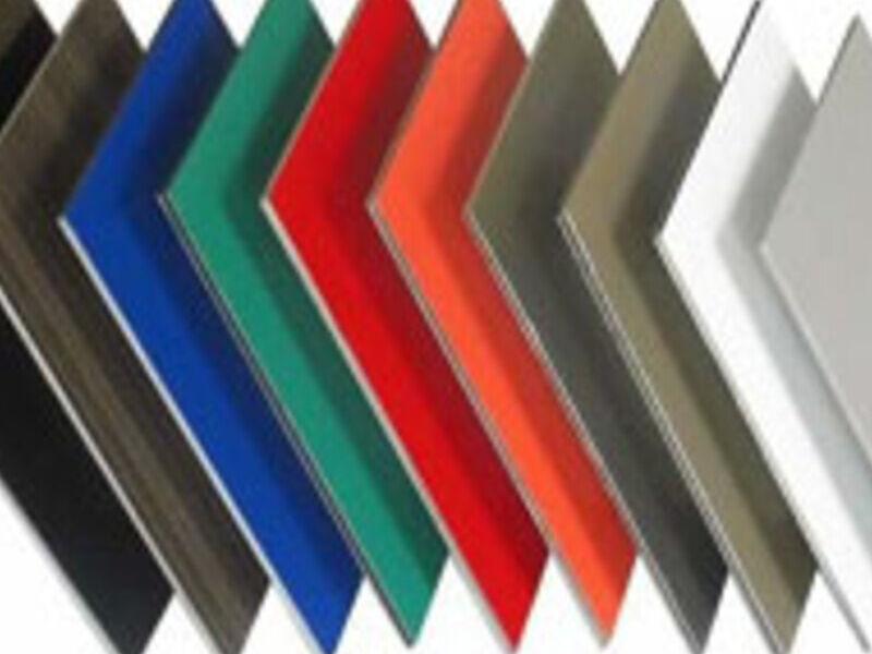 Panel de aluminio compuesto con acabado PE