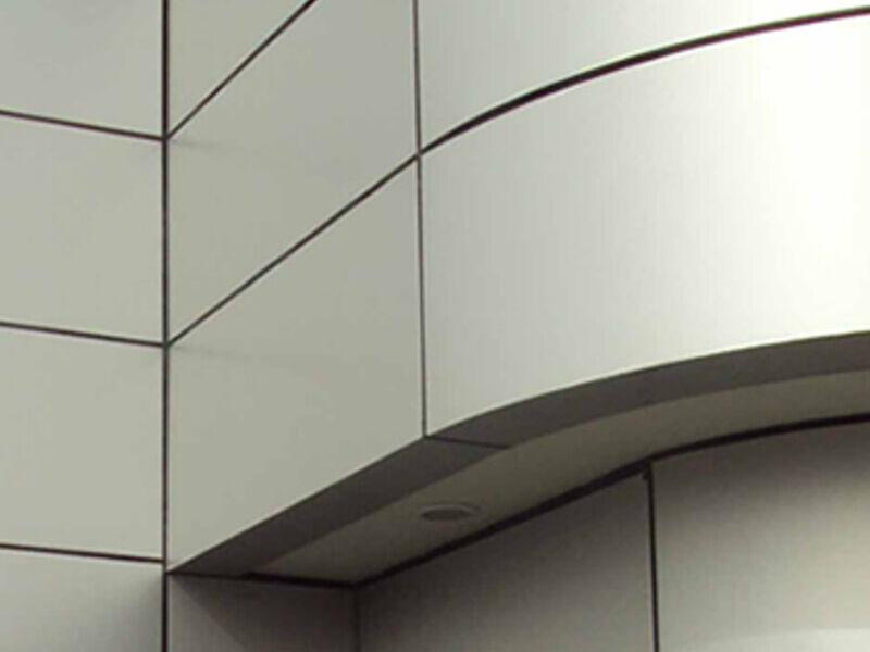 Panel compuesto de dos laminas de auminio