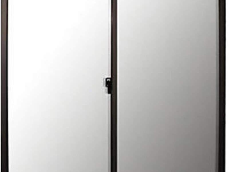 Ventana Aluminio Titanio 100x100cm
