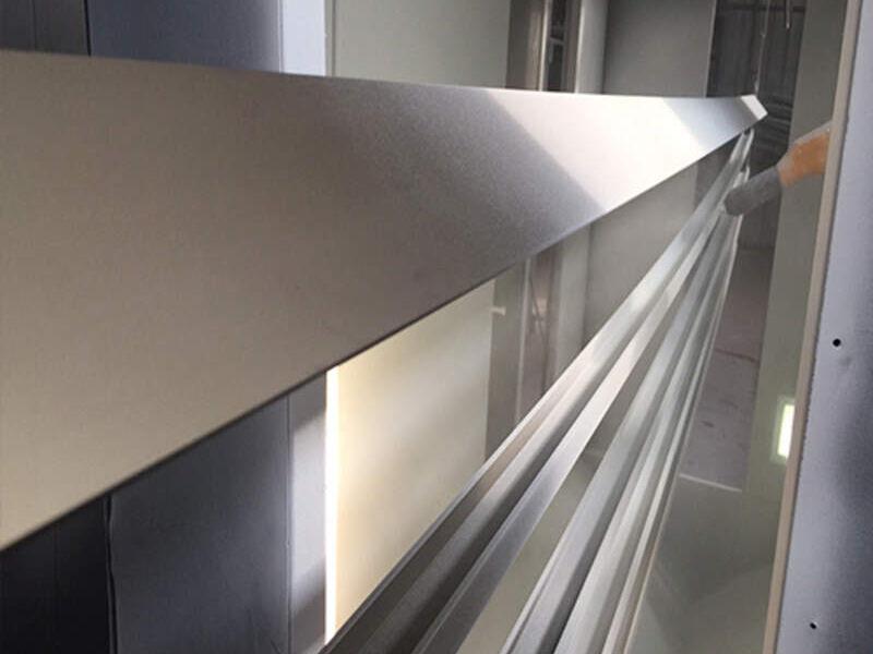 Instalación de cristales templados